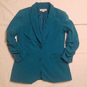Michael Kors Teal Blazer Jacket